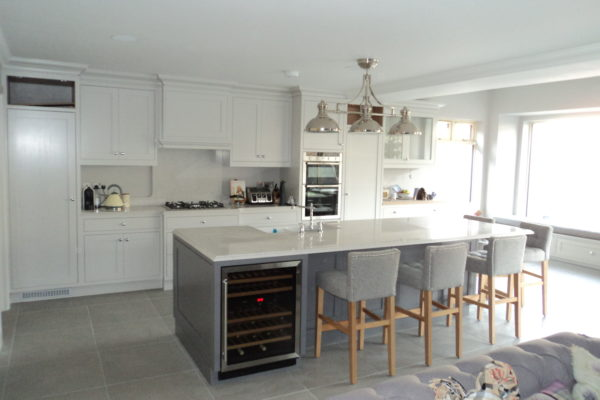 Kitchen and Living Room, Extension of rear. Interior refurbishment and front in Rathfarnam, South Dublin