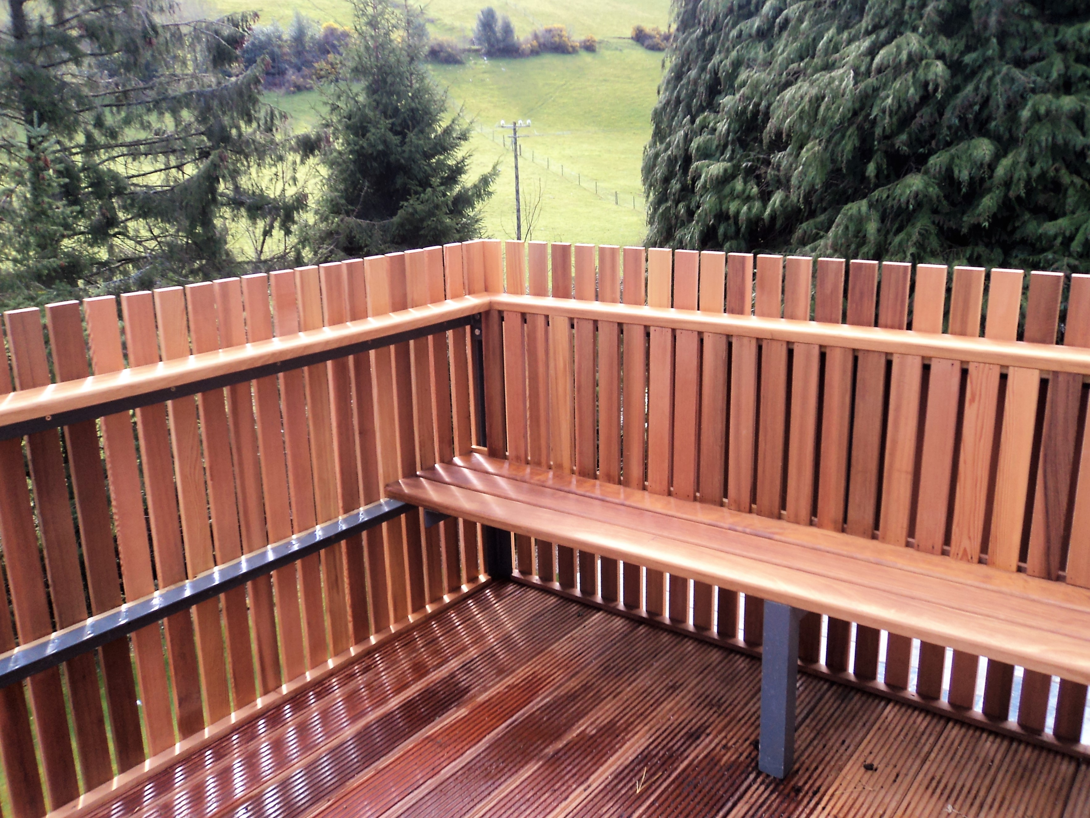 Outdoor Wooden Seating Balcony Extension in Avoca, Co. Wicklow