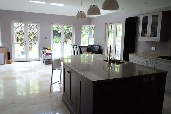 Rear Extension with new open plan kitchen in Terenure, South Dublin