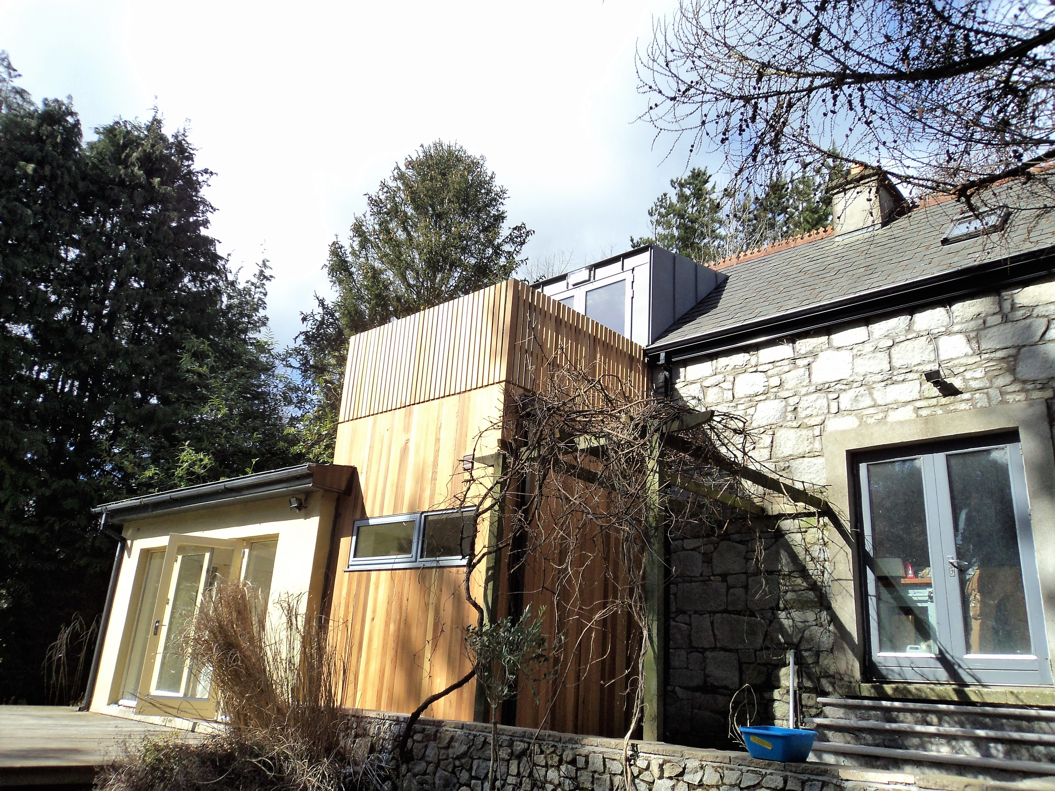 Outdoor Extension in Avoca, Co. Wicklow (from outisde)