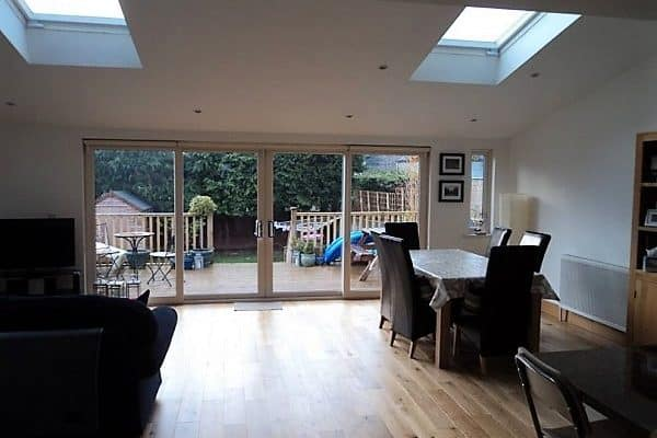 3. Open Living Room and Kitchen extension. Cabinteely, Co. Dublin