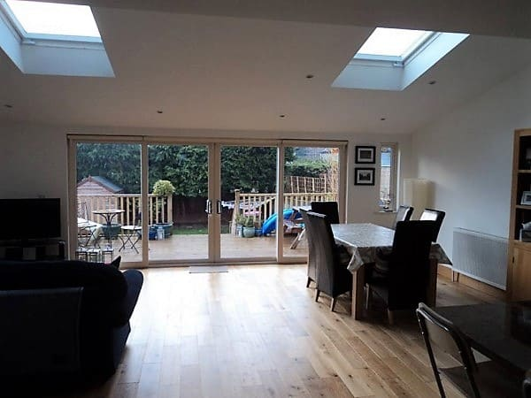 Open Living Room and Kitchen extension. Cabinteely, Co. Dublin