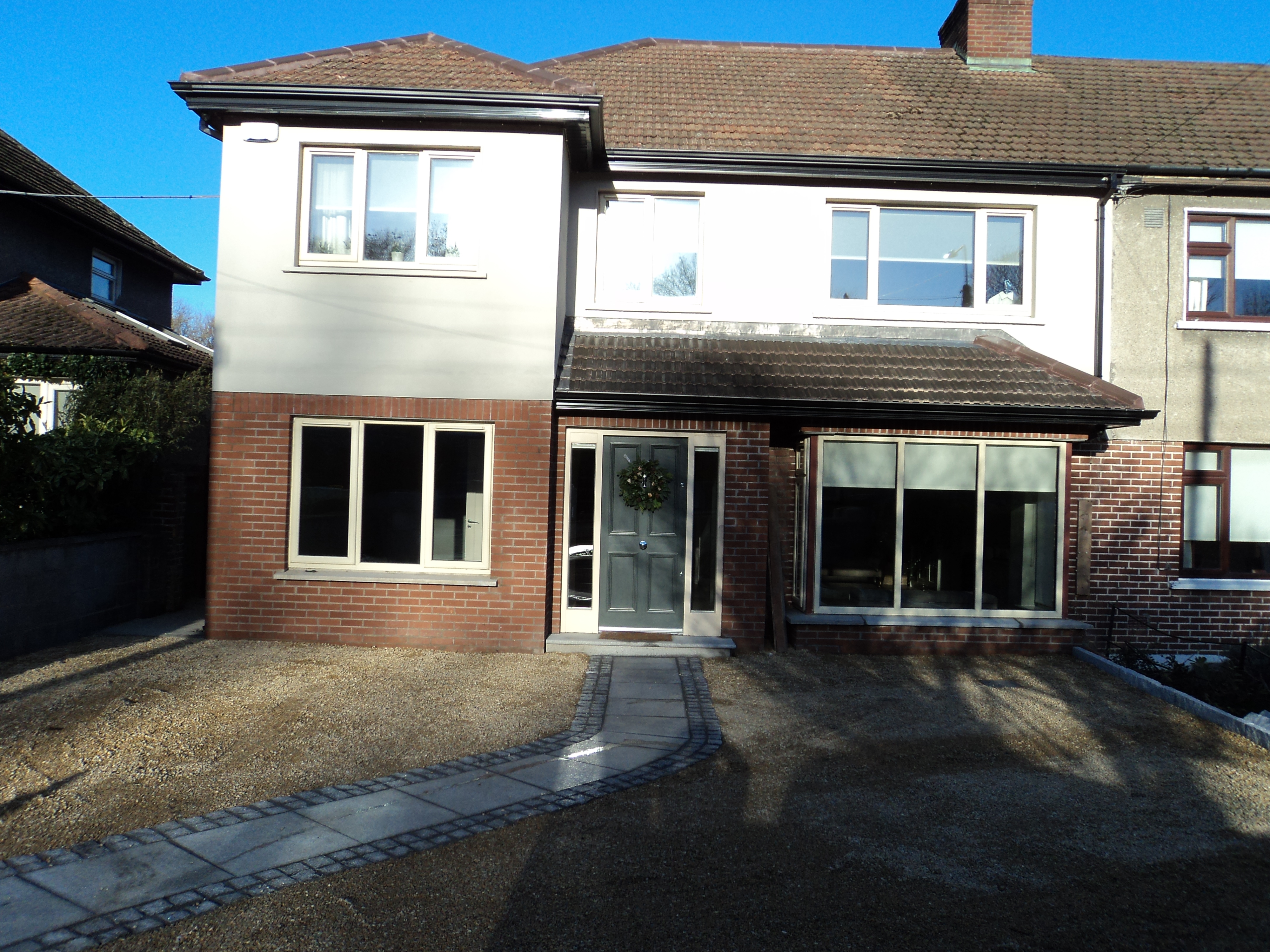 (AFTER) Front of house refurbishment in Rathfarnam, South Dublin