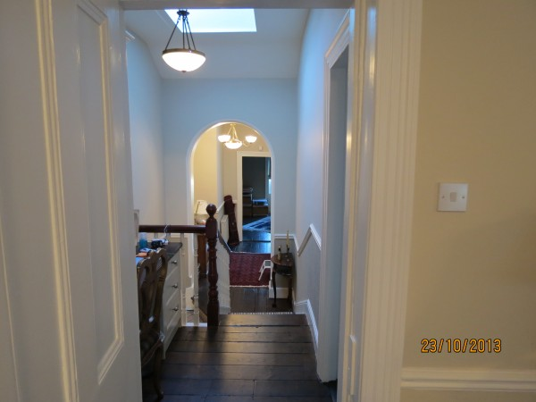 New staircase and upstairs landing, interior renovation in Greystones, Co. Wicklow