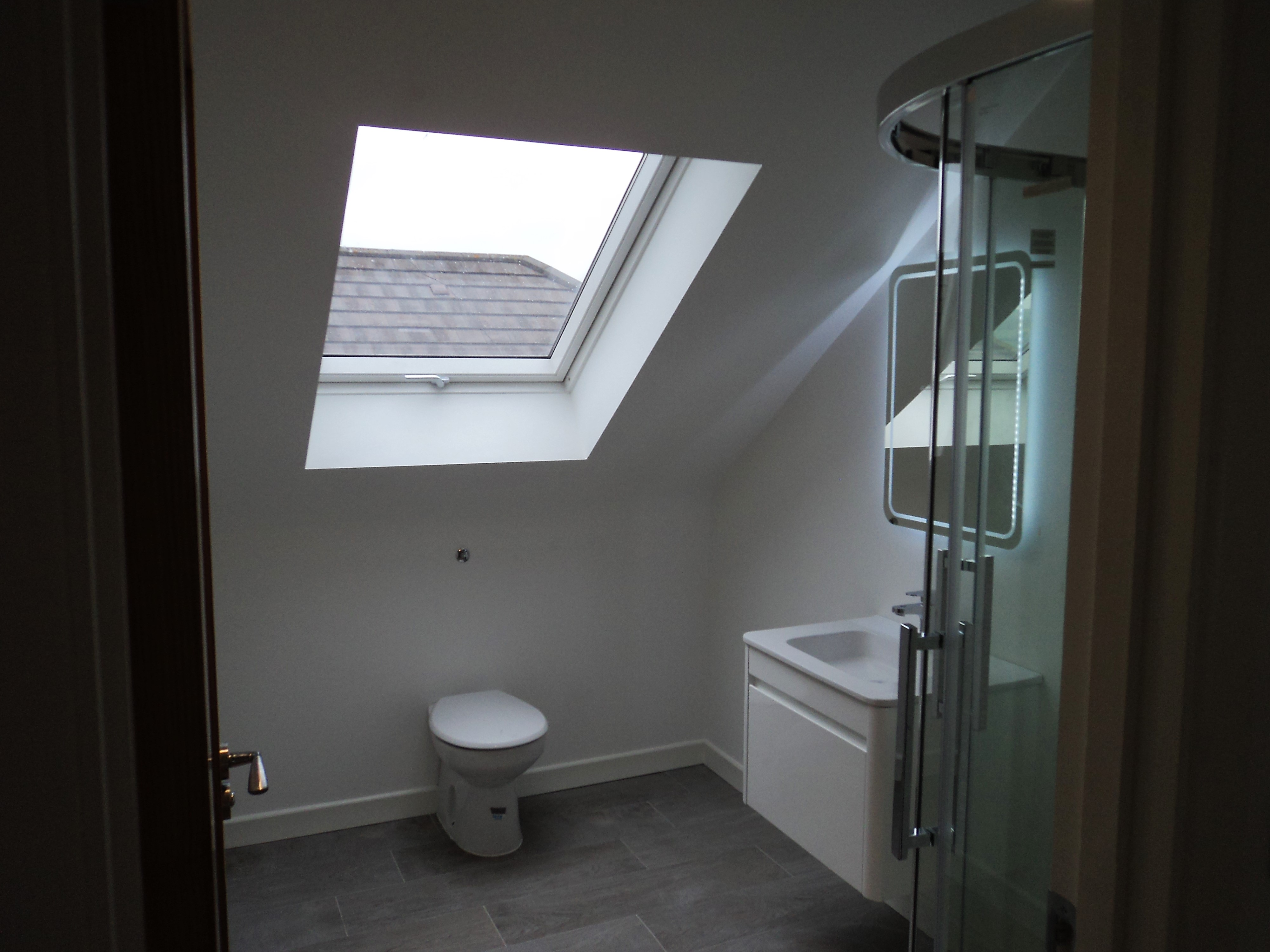 Attic loft conversion with new bathroom in Redcross, Co. Wicklow